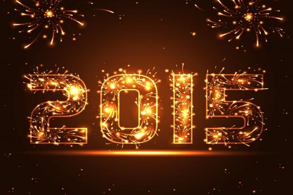 """Fuegos artificiales en el """"Año Nuevo 2015"""""""