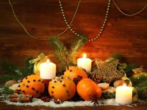 Postal: Adornos aromáticos para Navidad y Año Nuevo