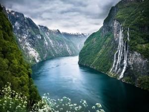 La belleza de un fiordo noruego