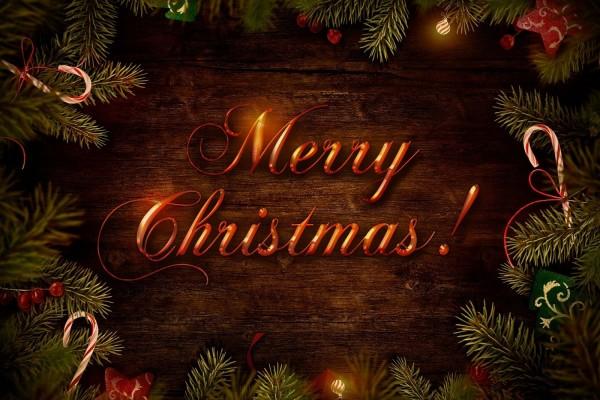 """Fondo navideño con un mensaje de """"Feliz Navidad"""""""