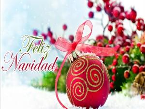 "Postal: Mensaje de ""Feliz Navidad"""