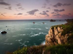 Postal: El mar visto desde la costa