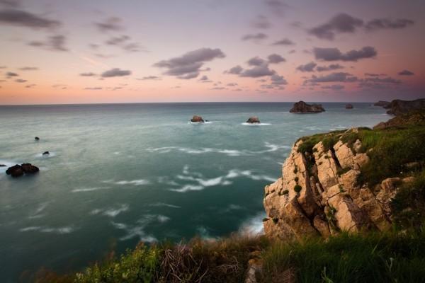 El mar visto desde la costa