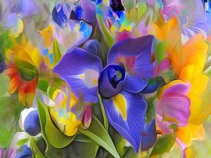 Bello dibujo con flores primaverales