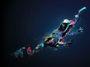 Rana digital de varios colores