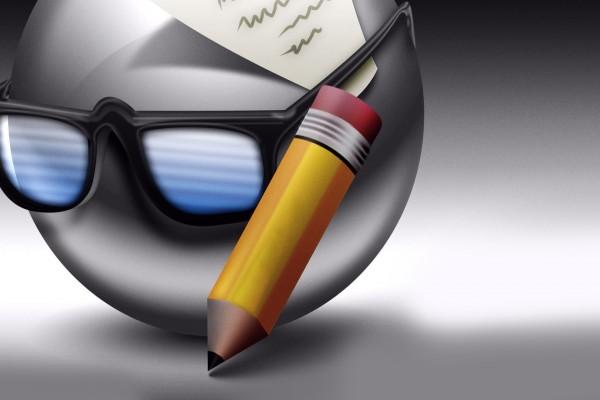Un emoticon escritor