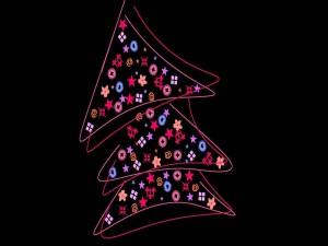 Postal: Un simple árbol de Navidad
