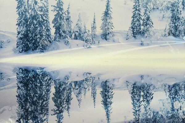 Retoque digital en un paisaje nevado