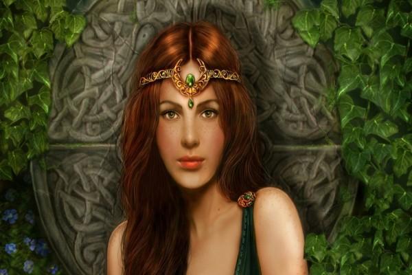 Una bella joven celta