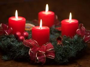 Corona de Adviento para Navidad
