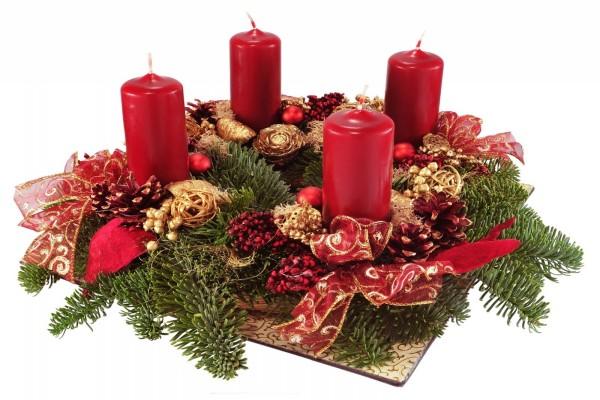 Centro de mesa para adornar en Navidad y Año Nuevo