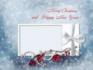 Postal: Hermoso porta retrato con mensajes para los días festivos