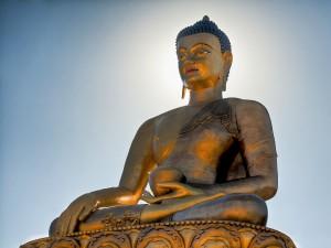 Postal: Estatua de un gran Buda