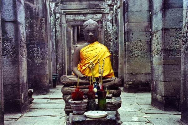 Buda en el templo de Angkor Wat