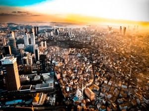 Vistas de una gran ciudad