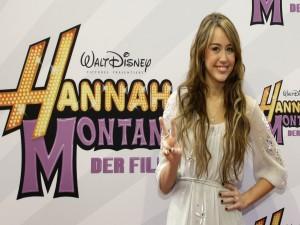 Miley Cyrus en un fotocol de Hannah Montana