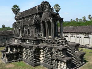 Postal: Zona interior del templo Angkor Wat