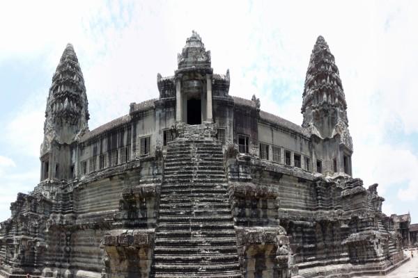 Estructura interior del gran templo Angkor Wat