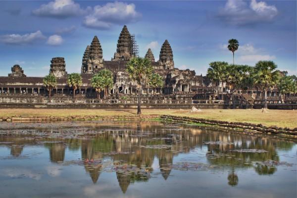 Vistas del gran templo Angkor Wat