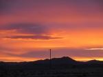 Hermoso cielo sobre el desierto