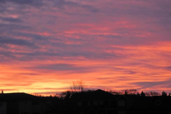 Bonito cielo en la llegada de un nuevo día