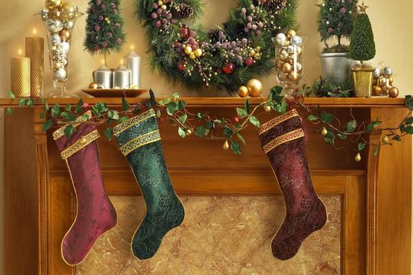 Hermosas botas navideñas
