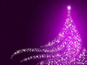 Brillante arbolito de Navidad