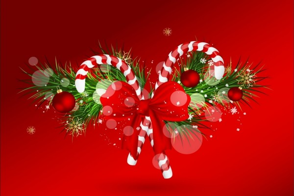 Bastones navideños