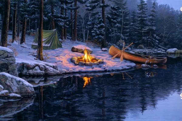 Campamento en invierno
