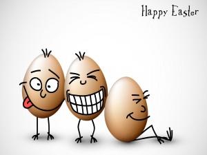 Postal: Huevos de pascua chistosos