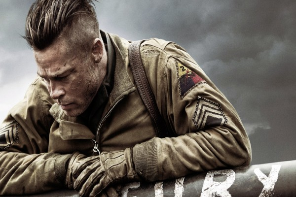 "Brad Pitt en ""Fury"""