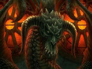 Postal: Dragón enojado