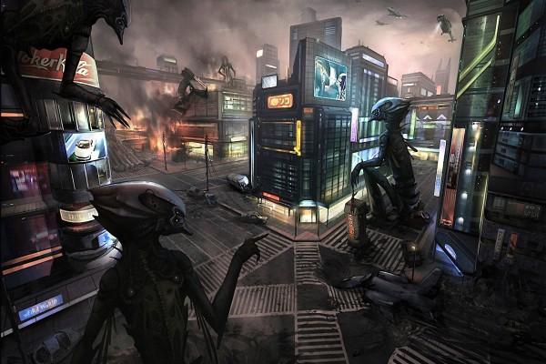 Ciudad invadida por alienígenas