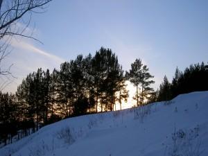 Nieve en la ladera