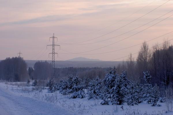 Nieve en una mañana de invierno