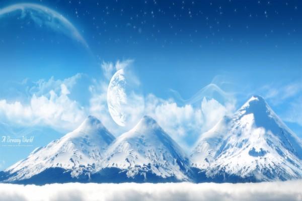 """Grandes montañas en """"Un mundo de ensueño"""""""