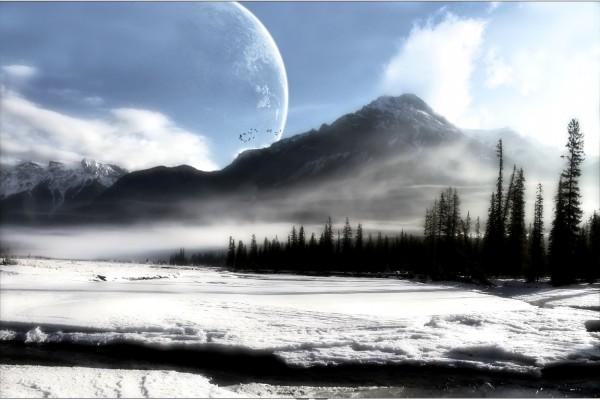Planeta tras la montaña