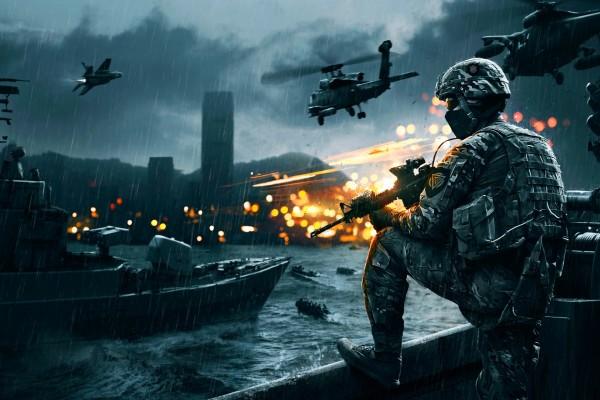 Guerra bajo la lluvia en Battlefield 4