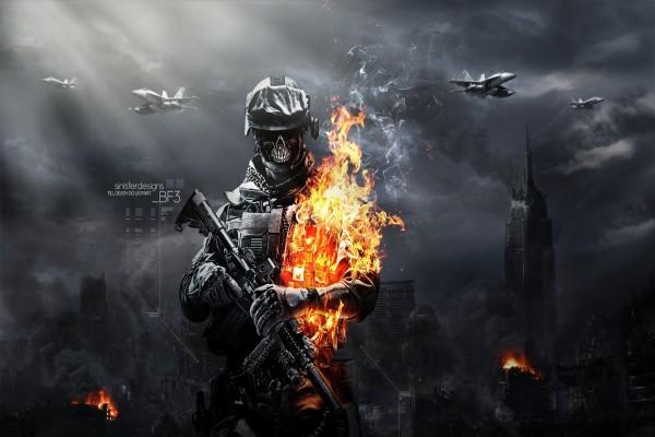 Soldado en llamas Battlefield 3