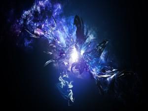 Postal: Explosión azul