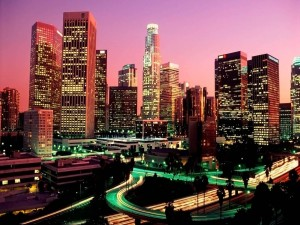 Postal: Luces en Los Ángeles (California)
