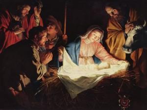 Adoración de los Pastores, obra de Gerard van Honthorst