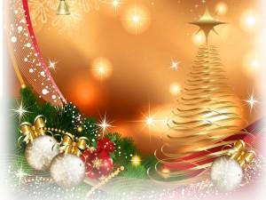 Bolas y árbol de Navidad