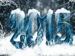 Nuevo Año 2015 cubierto de nieve