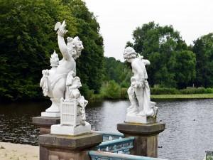 Postal: Estatuas en el palacio de Charlottenburg  (Alemania)