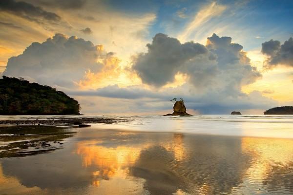 Playa en la Península de Nicoya, Costa Rica