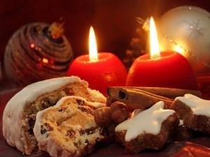 Dulces y decoración de Navidad