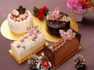 Selección de tartas para Navidad
