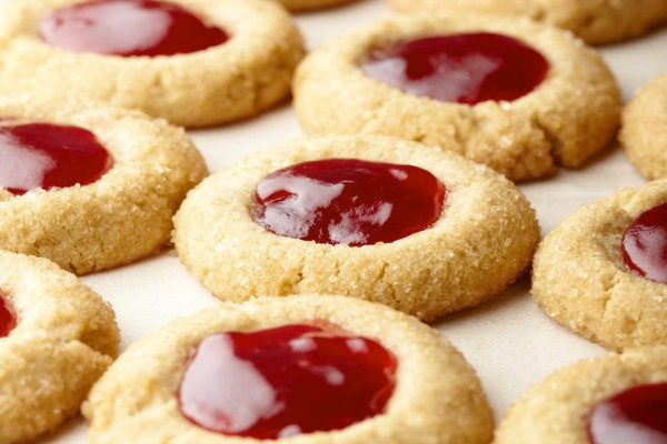 Ricas galletas con mermelada