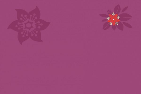 Flores en un fondo morado